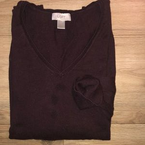 Burgundy vneck sweater
